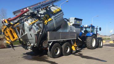Hogedruk zuigwagen met rioolhaspel | 16 m³