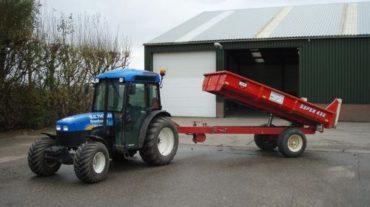 Tractor met grondkar | 3.5m³