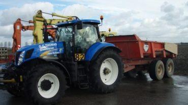 Tractor met grondkar | 10m³